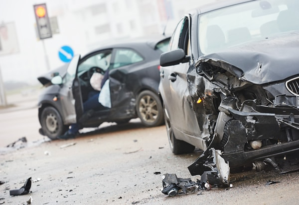 Automobile accident on a busy highway leading to personal injury claim